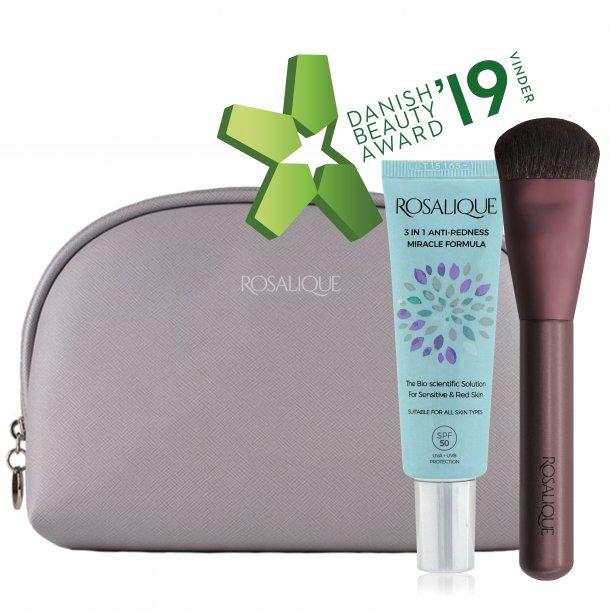 Rosalique Makeup Pung m/ 1 stk. Rosalique og 1 stk. Rosalique Foundation Brush