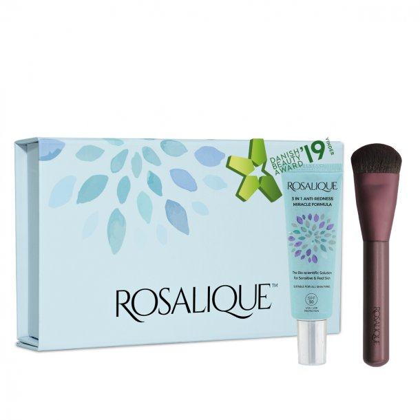 Gaveæske - Rosalique 3 i 1 anti-rødme creme